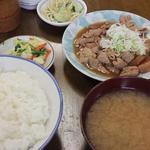川岸屋 - モツ煮定食(700円)