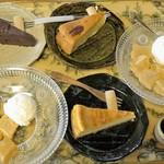 HUG.CAFE - わらび餅、バナナケーキ、ガトーショコラ、ベイクドチーズケーキ=16年7月