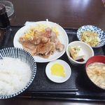 すえひろ - 「豚の生姜焼き定食」(680円込)(2016年7月)