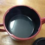 そば処おふくろさん - 蕎麦湯です