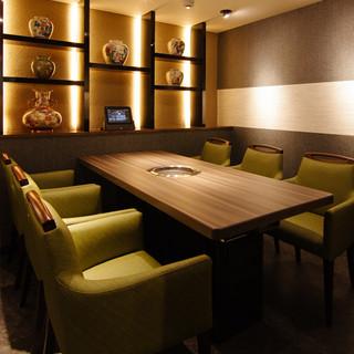 完全個室の空間で至極の時間をお過ごしください。