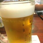 鉄板焼 やっぱ。渋谷肉横丁 - 生ビール580円