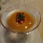 高原のホテル ラパン  - 長野県真田産トウモロコシのムース 利尻産海水雲丹と共に