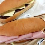 こっぺぱんとフレッシュサンドの店 ウイングベーカリー - 粒あんバター230円 ロースハム320円