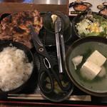 佐賀県三瀬村ふもと赤鶏 - 鶏もも炭火焼定食