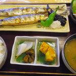 お食事処 だんらん - 秋刀魚の一夜干し定食