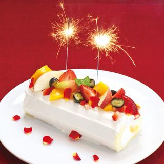 記念日にCITA-CITA特製ロールケーキ