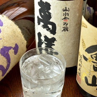 熊本から独自のルートで仕入れた焼酎
