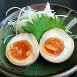 創作鉄板料理とワインを楽しむ店 ~渋谷 居酒屋 花花~ - 半熟卵