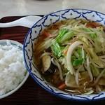 東山 - 野菜ラーメン650円+半ライス170円