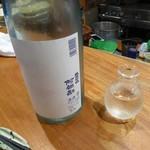いまむら - ドリンク写真:阿部勘 純米吟醸 裏ラベル