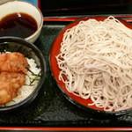 小諸そば - 鳥から丼セット530円+大盛60円