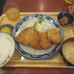 マンプク - マグロカツ&アジフライ ¥820-