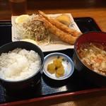 古都うどん店 - エビ魚フライ定食  おいしく頂きました( ˙༥˙ )♡