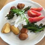 農家レストラン 大地 - 適当に取った野菜類