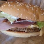 バーガーキング - ハムが邪魔なハンバーガ