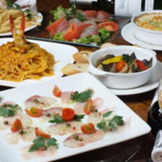 五島列島のお料理を愉しめる飲み放題付きのコースをご用意!
