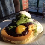 珈琲館 - 抹茶のパンケーキ