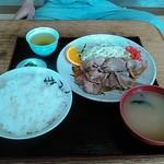 やおとく食堂 - 生姜焼き定食