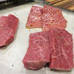 赤身焼肉USHIO - 『美味しい肉を少しずつ』仕様で出して頂きました。