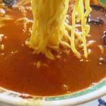 中国料理 明珠酒家 - 担々麺の麺