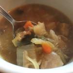 伊食酒房 穴 - 具沢山コンソメスープ