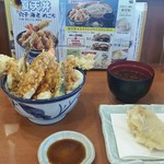 天丼てんや - 夏天丼&単品でロース肉天ぷら