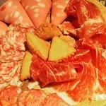 イタリア料理ゴローゾテツ - イタリア産生ハムとサラミの盛り合わせ