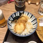 ソバキチ - 半熟卵天丼