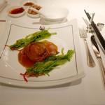 54134024 - オーストラリア産鮑のプレミアムオイスターソース煮込み 青菜を添えて