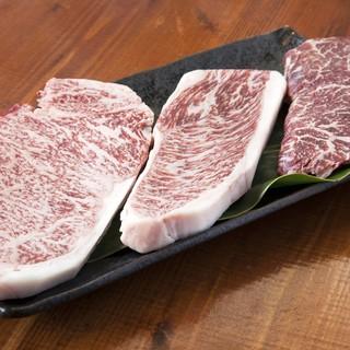 地元の牛肉&豚肉が味わえます