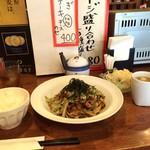 がんばり屋 - 焼きそば定食700円(2016.7.28)