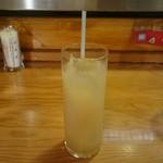 メソン・バスカ - 食後の桃ジュース
