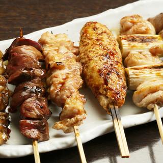 彩の名物料理‼‼炭火串焼盛合せ