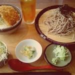 syokudo ぱくり亭 - ざるそば+ミニたれかつ丼