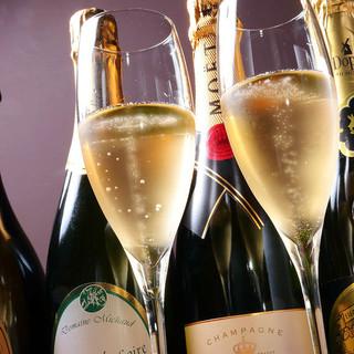 ソムリエ厳選種類豊富なワインと焼肉のマリアージュを…