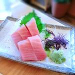 寿司居酒屋 日本海 - 上バチ中トロ刺身