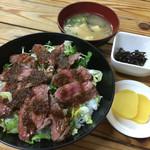 やよい - あか牛丼1200円(^^)