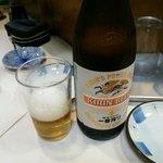 とりかつ チキン - ビール ¥500