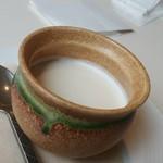 文明堂カフェ - 栗の濃厚プリン
