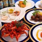 レストラン ストックホルム - スモーガスボードの料理各種