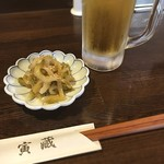 炒め処 寅蔵 - ご飯食べようと思って入って、飲み物どうですかと言われて注文したこれら。これからまだ勉強しないとなのに…(^^