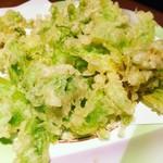 秋田料理 まさき - ふきのとう天ぷら