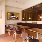 AOI cafe - 【オープンテラス1】天気のいい日は開放しています。爽やかな風が吹きぬけます。ペットも同伴可能です。人気席。