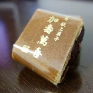 渡辺菓子舗 - 料理写真:[2016/07]かすまきハーフ・黒あん(120円)