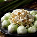青梗菜と中華湯葉の炒め煮