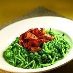 季節野菜とまこも茸の醤油煮込み