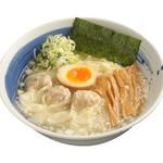 麺処 直久 - 肉玉雲呑麺塩