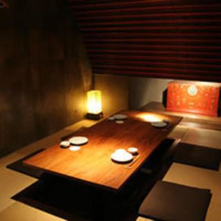 隠れ家のような上質完全個室です。