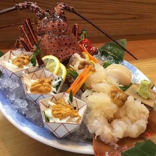新鮮な海鮮料理を・・・